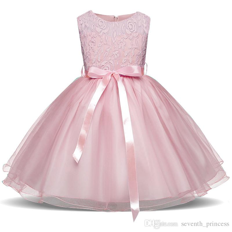 2a8c1b50b91f Baby Girls Tulle Lace Dresses Christmas Party Clothes Pink Green ...