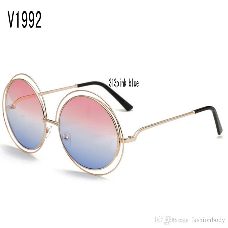 7c830098eb Sunglasses For Women Korea Oval Face Women Case Side Shields Test Police  Wholesale Brand Retro Uv Protection Round Faces Made China With Box Designer  ...