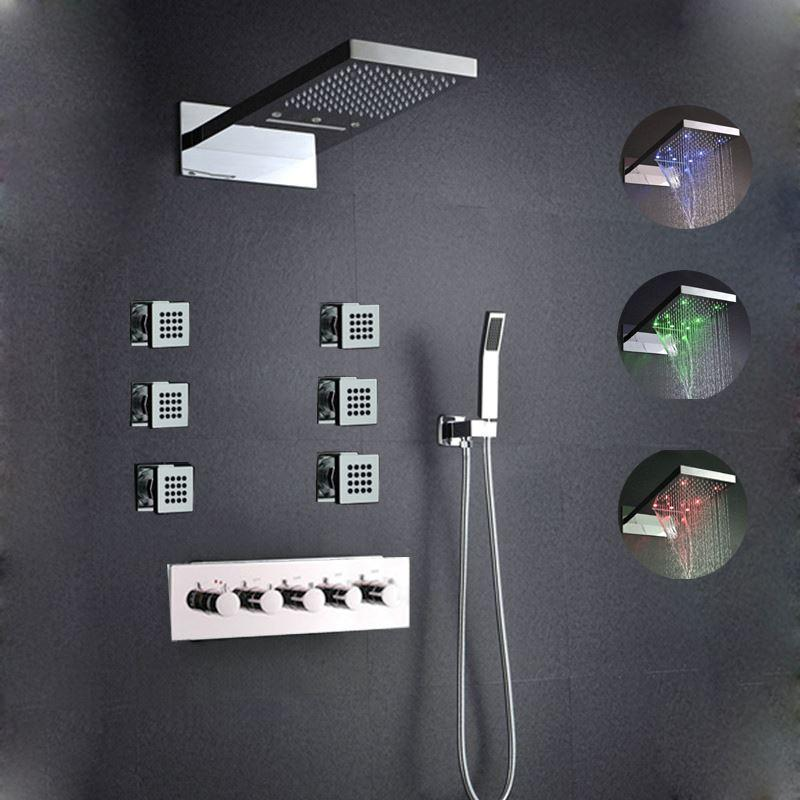 2018 High Quality Bathroom Shower Set ,With Body Spray Wall Mounted ...