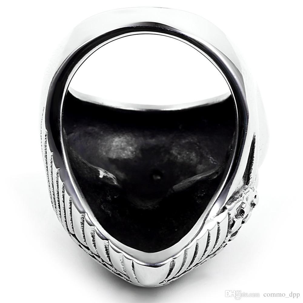 Stainless steel Biker Rings With American Flag Mask Skull Skeleton men's Biker Rings For men s Fashion Jewelry Cheap Wholesale