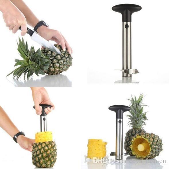 Из нержавеющей стали ананас овощечистка для кухонных принадлежностей ананас слайсеры фрукты нож резак кухонные инструменты и приготовления горячей продажи