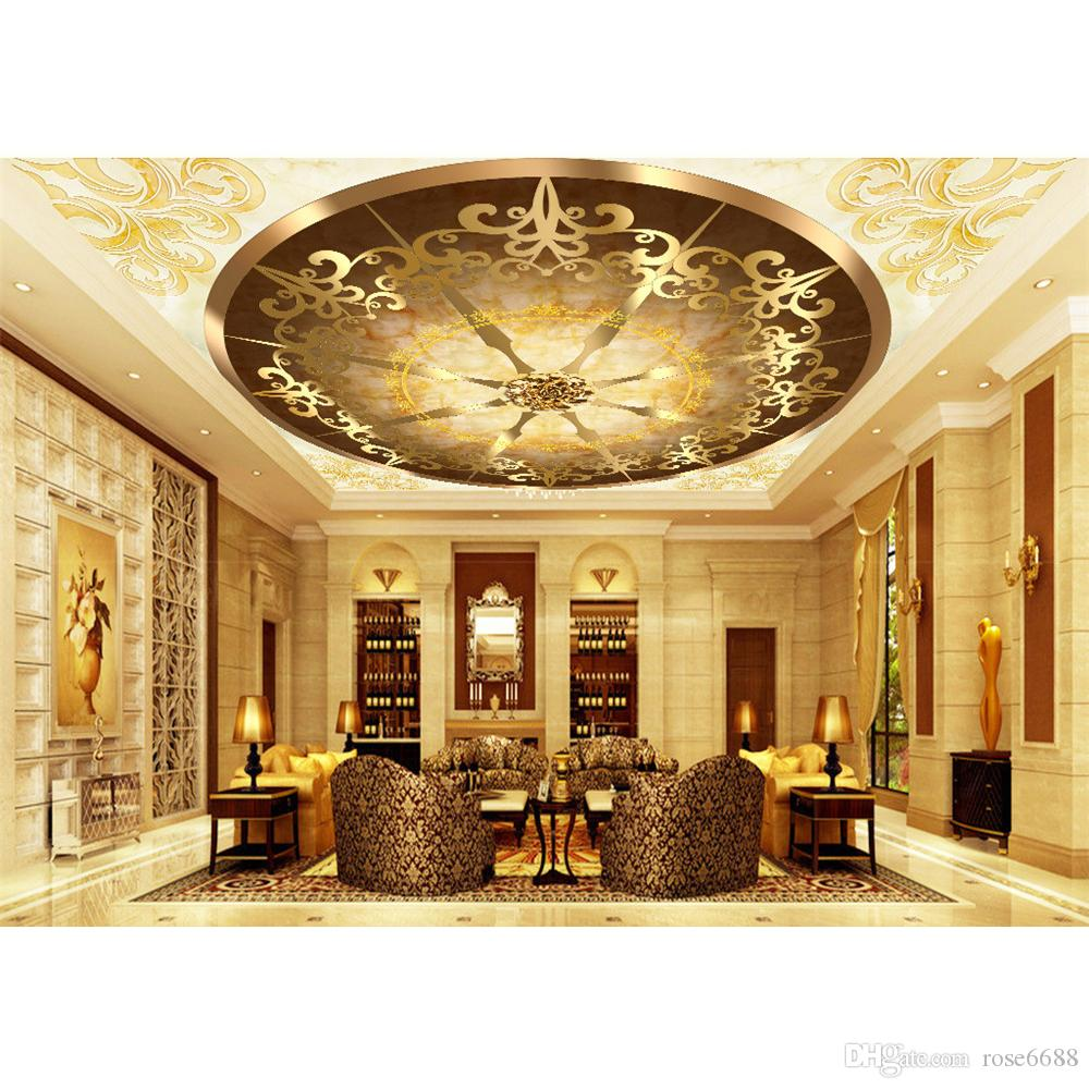 Modern Wallpaper For Living Room Golden Ceiling Fashion Decor Home  Decoration For Bedroom Living Room Custom Wallpaper Designer Wallpaper From  Rose6688, ... Part 60