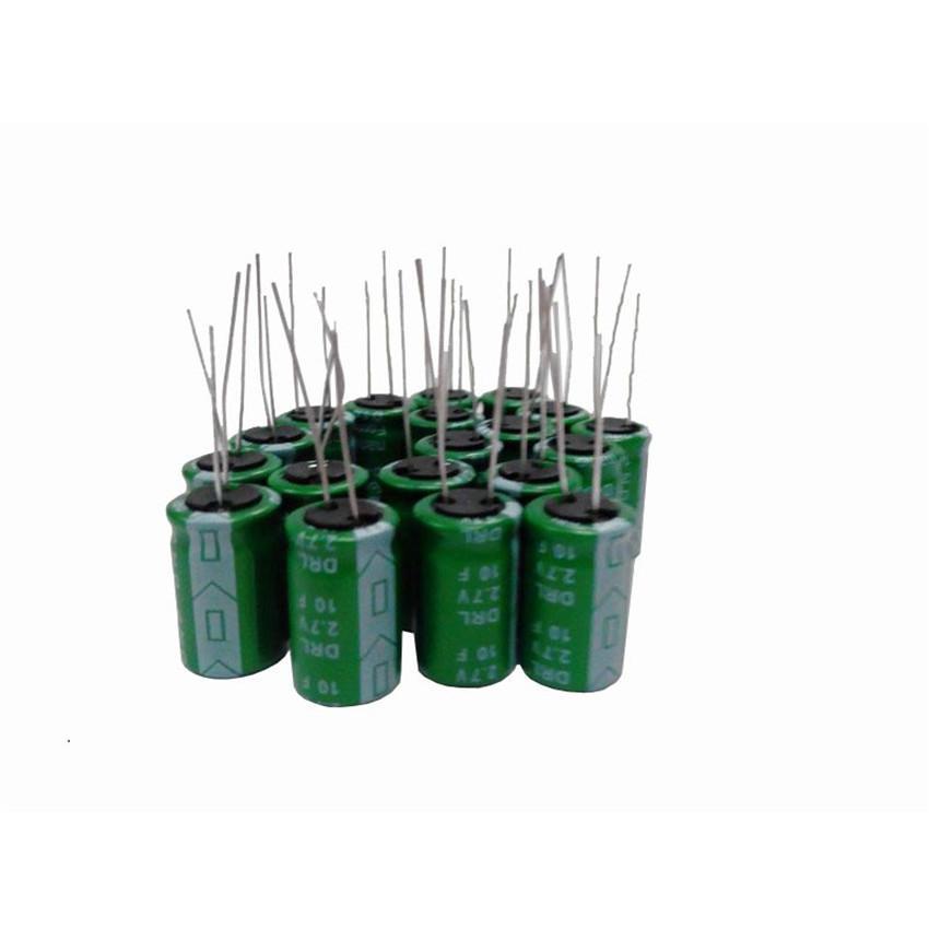 Wholesale-2 7V10F quick charging fala capacitor 2 7v10f super capacitor  high current Low ESR fast delivery 2 7V10F ultra capacitor 100PCS