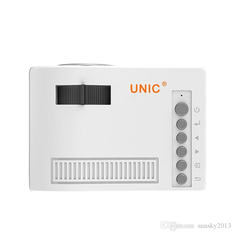 Mini LED Projector Portable Pocket Projectors Original Unic UC18 Multi-media Player Home Theater Game Supports HDMI USB TF Beamer Proyector