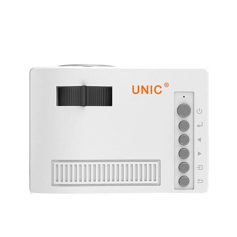 Оригинальный Unic UC18 мини светодиодный проектор портативный карманный проекторы мультимедийный проигрыватель домашний кинотеатр игра поддерживает HDMI USB TF проектор