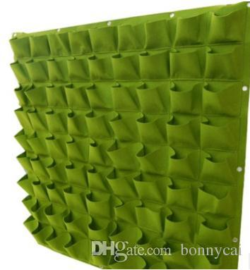 Non-woven Fabric Plant Pouch Root Container Grow Bag Aeration Flower Pots Container Garden Planters Hanging wall
