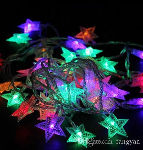 2.5 M Estrela Cortina CONDUZIU a Corda de Fadas de Luz À Prova D 'Água Romântica Festa de Casamento de Natal Festival de Decoração de Jardim Lâmpada