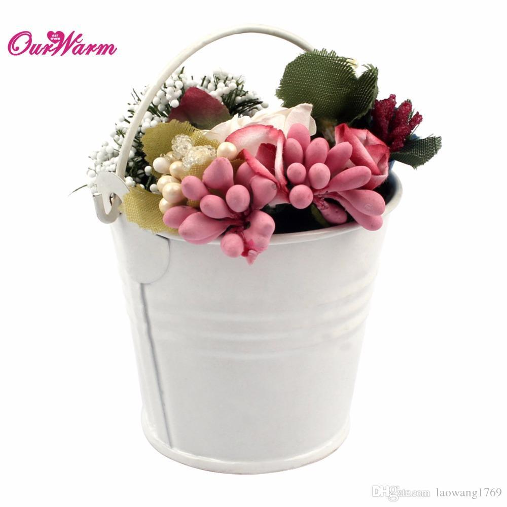 12Pcs Wedding Favors and Gifts Bag High Quality Metal Mini Tin Bucket for Wedding Flowers Candy Box Event Party Supplies 6Colors