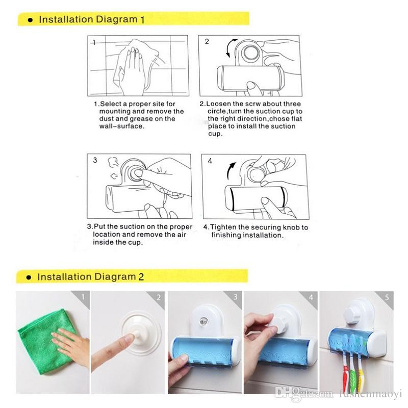 Держатель зубной щетки с сильной прочной присоской настенные держатели зубной щетки аксессуары для ванной комнаты инструменты DHL бесплатно