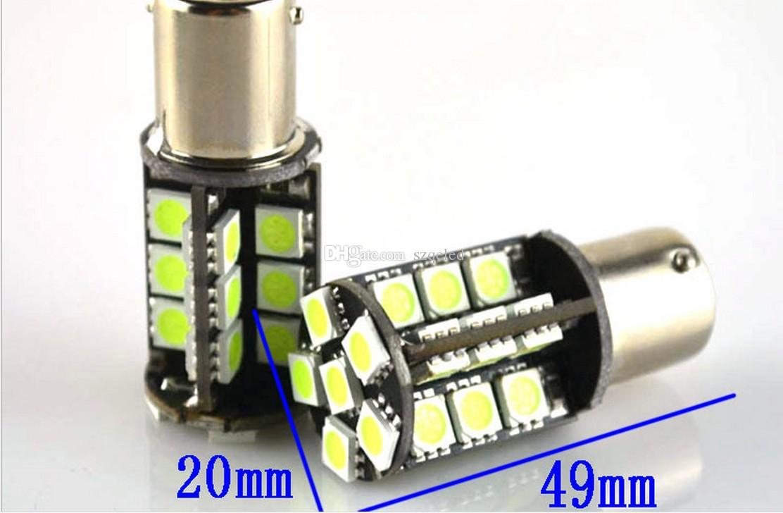 10 teile / los Weiß Led 12 V 1156/1157 30SMD Canbus 5050 Glühbirne Lampe Auto Auto Blinker Rückfahrscheinwerfer Rücklicht Bremsleuchten