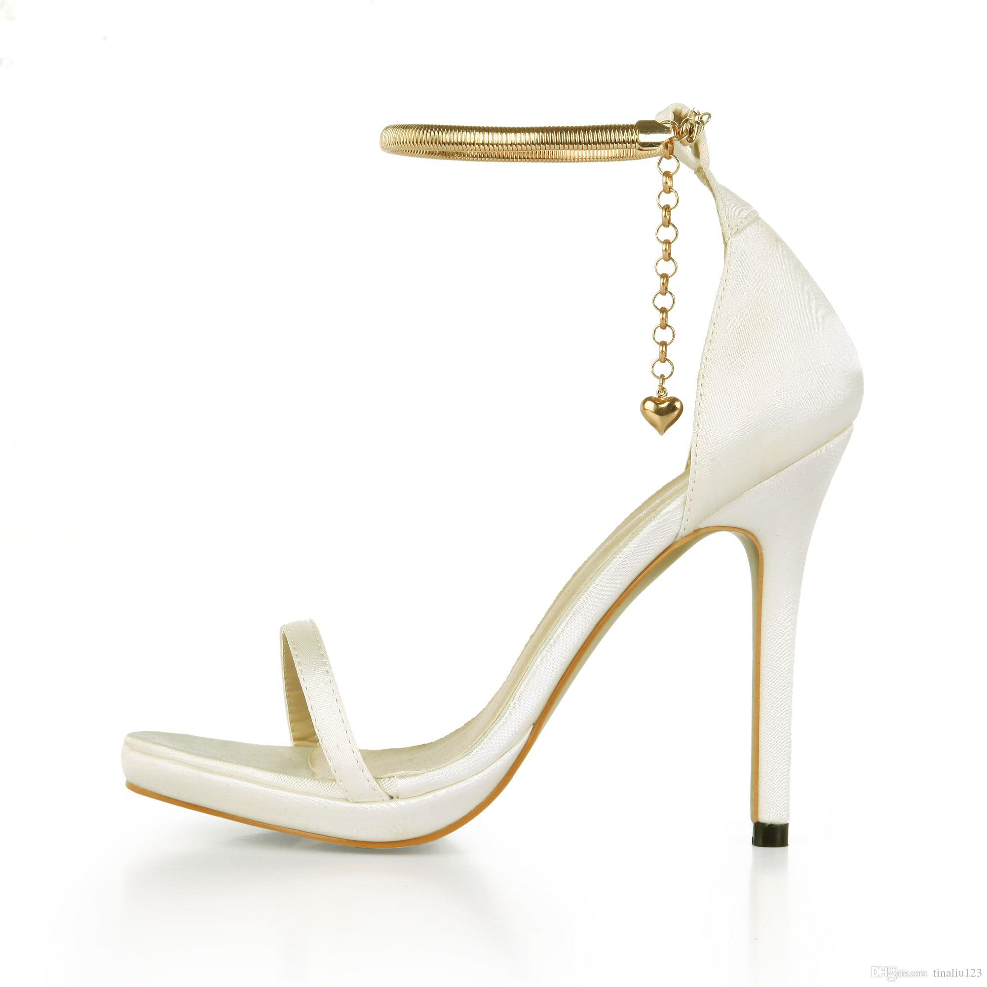 a5fd5eb88015 2017 New Arrival Summer Luxury Women Shoe Fashion Gold Chain High ...