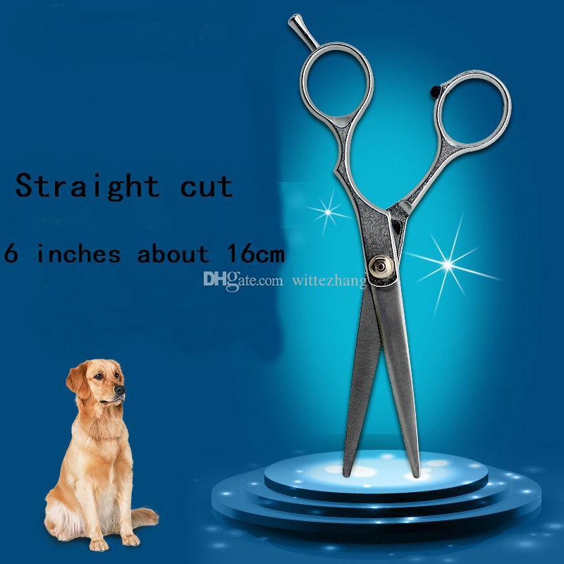Nouveau 6 pouces ciseaux de toilettage pour chiens Pet Dog Cat Professional en acier inoxydable toilettage Ciseaux Amincissants et Coupe Droite