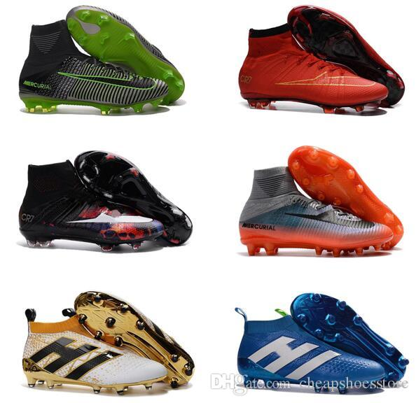 7070aa58c9f1 2017 High Quality Size 35-45 Superfly V FG AG CR7 Ronaldo Kids Youth Football  Shoes Magista Obra 2 Soccer Boots Mens Soccer Shoes Soccer Shoes Cr7 Kids  ...