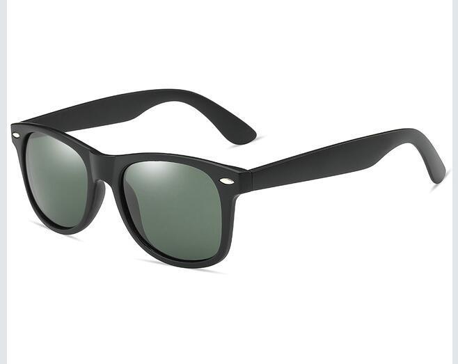 2018 Retro Rivet gafas de sol polarizadas Hombres negro plástico mate Gafas de sol para hombres de la marca Classic Vintage Shades Oculos Hombre @BRB