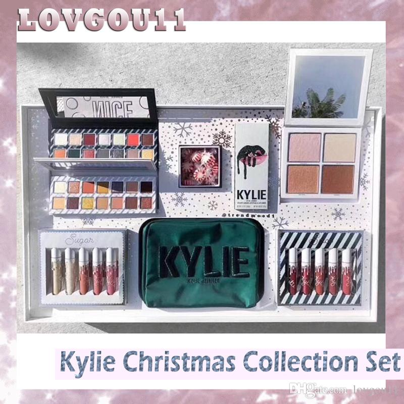 kylie jenner kyshadow kit xmas holiday collection set naughty nice eyeshadow the wet set velvet liquid lipsticks 660241 1 play makeup set affordable