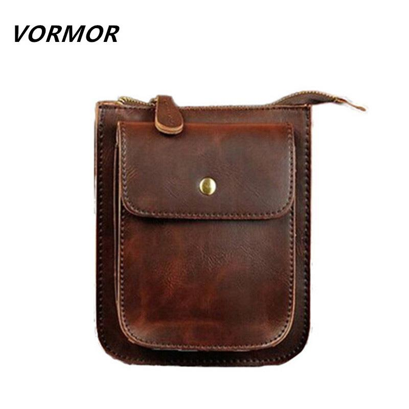 Wholesale VORMOR Small Men S Leather Messenger Shoulder Bags 4f4b762036f6c