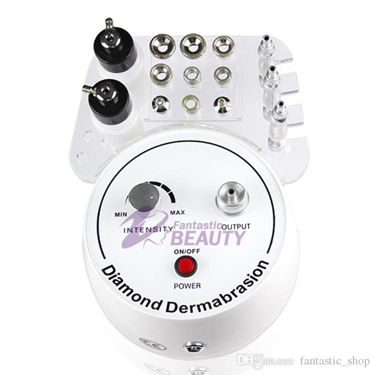3 Em 1 Máquina De Microdermoabrasão De Diamante De Oxigênio Casca De Jato Dermoabrasão Diamond Vacuum Peeling Pele Beleza Dispositivo de Cuidados Com A Pele de Oxigênio Spray