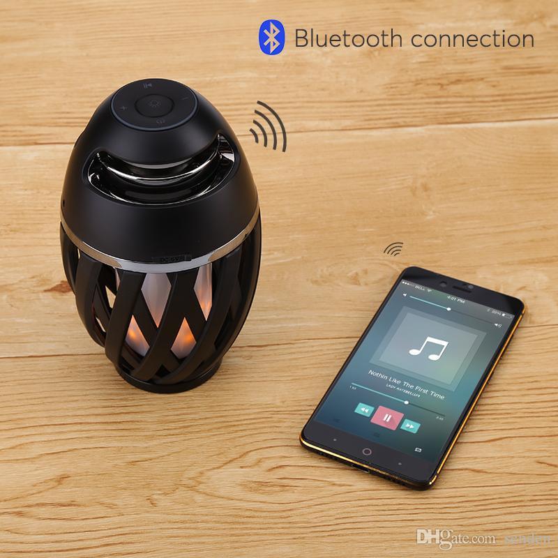 Yaratıcı Mood Lambası Bluetoot 4.2 Hoparlör tourch LED Işık ile, alev atmosfer Lamba Bonfire Işık Etkisi Stereo hoparlör yatak odası hediye için