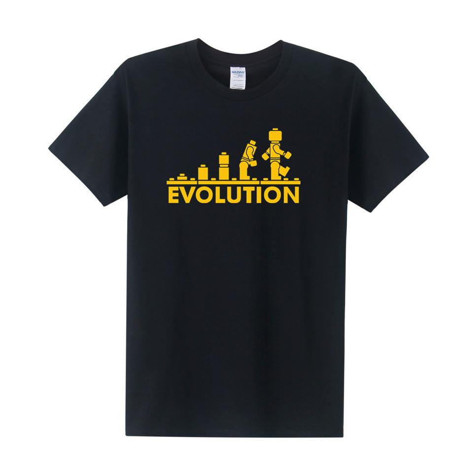 Lego Robot Evolution T Shirt Funny Printed Sheldon Cooper T Shirts ...