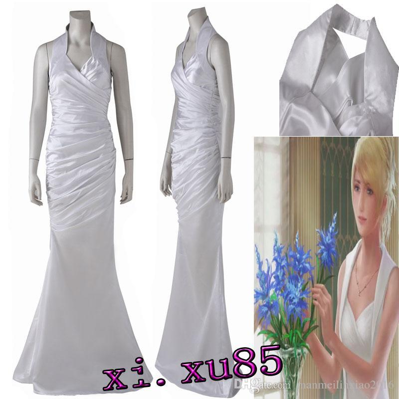Origial Final Fantasy XV Lunafreya Nox Fleuret Cosplay Dress Costume  Customized Beautifu Party Dress Ball Gown Custom Made