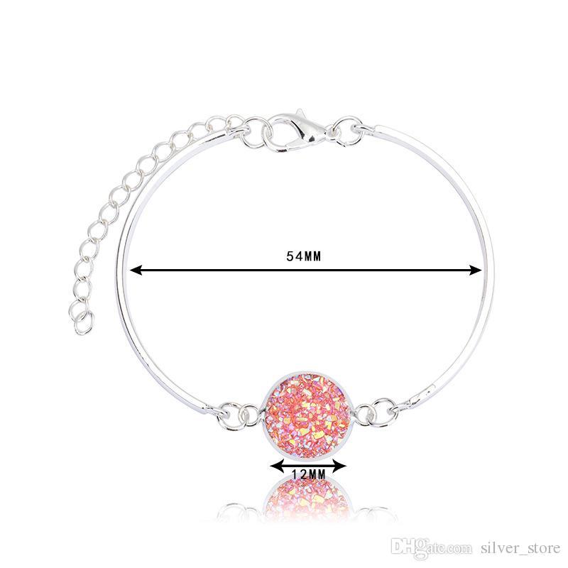 Neue Ankunft, die silbernes Herzarmbandmehrfarbenkristall-Liebesarmband FB306 Mischungsauftrag 20 Stücke viel Charme-Armbänder verkauft