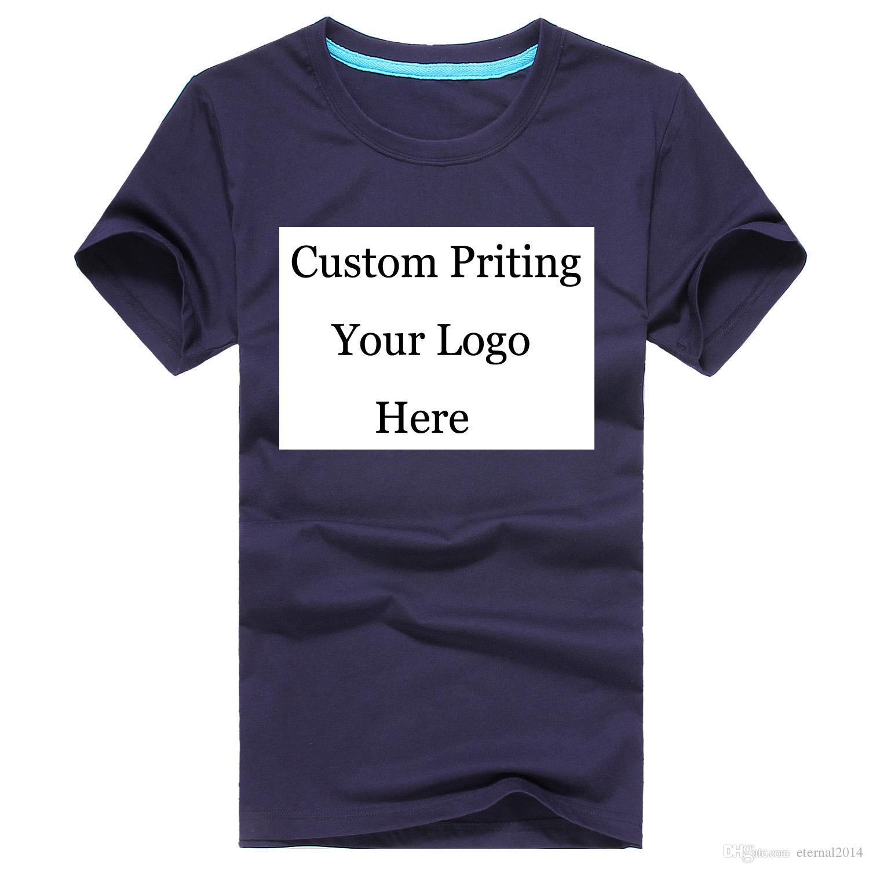 Custom Printing Logo Mens Womens 100% Cotton Short Sleeves T Shirts  Embroidery Personal LOGO Printing Wholesale Retail Digital Printing Ringer  T Shirts ... d017fb7bba