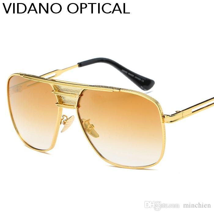 c849c690efe2 Vidano Optical New Arrival Big Square Sunglasses Classic Retro Women Men  Big Frame Sun Glasses Fashion Popular Vintage Brand Gradient UV400 Mirror  ...
