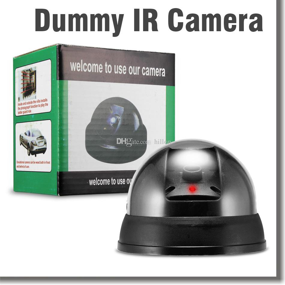 Fake Security Surveillance Cameras Dummy Dome CCTV Camera Indoor Outdoor IR CCD Camera Flahsing RED LED Light with Retail Package