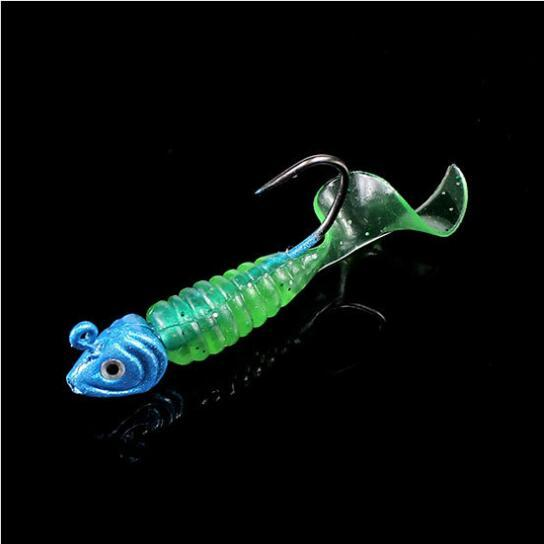 Soft Plastic Bait 142Gram Grub Worms Suit Jig Head Hooks Shads Silicone Artificial lures Fishing Tackle for Fly Fishing