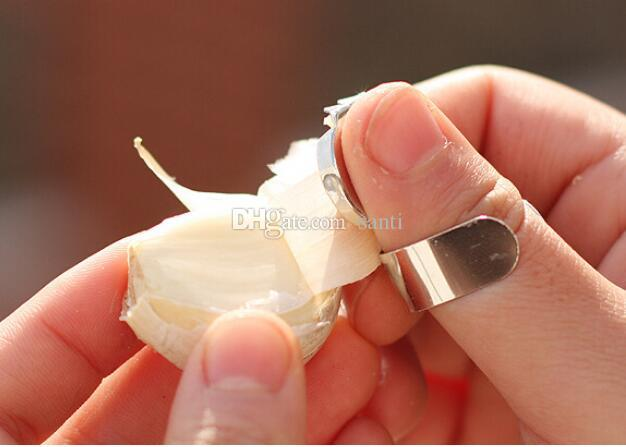 Hausgarten Edelstahl Knoblauch Presse Hygien Chestnut Schäler Slicer Helfer Finger Handschutz Küche Peeling Werkzeuge
