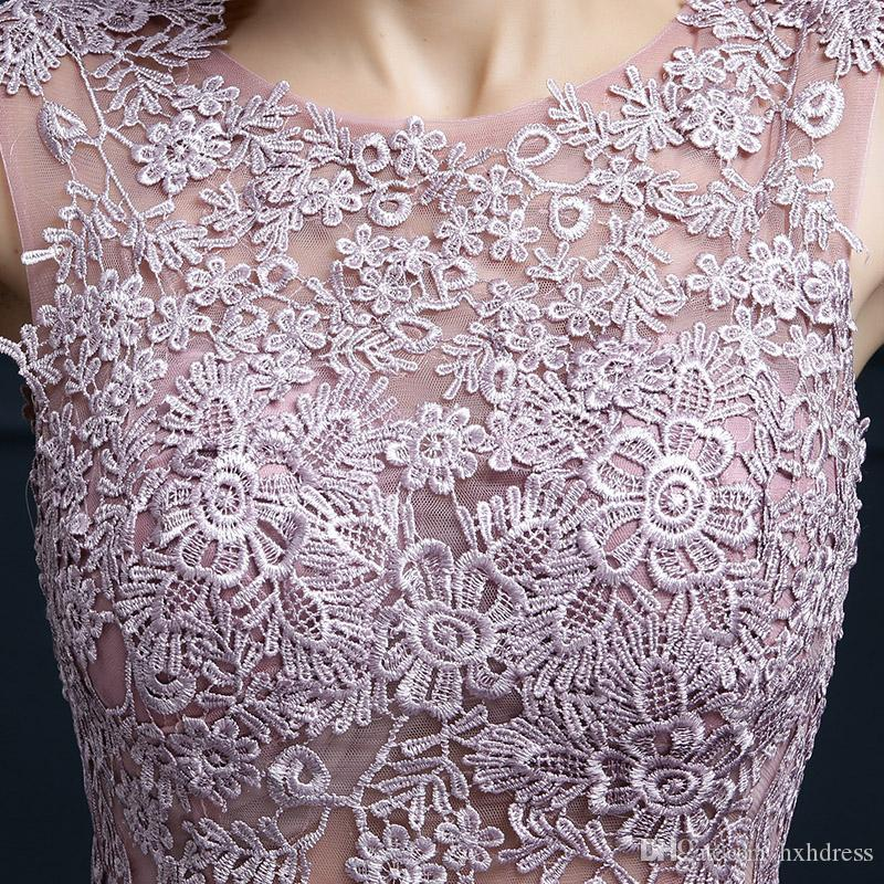 2018 New Burgundy Sexy Prom Dresse Double-shoulder Long Lace Pink Formal Evening Dresses Custom Plus Size Bridal Marrige Party Gowns 225