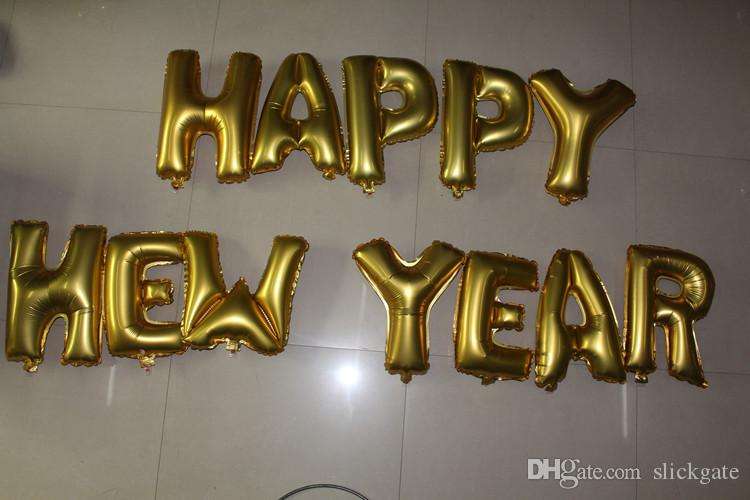16 pouces En Aluminium Ballons Or Argent Couleur Alphabet Lettres A-Z Feuille Balloon De Noël Fête D'anniversaire Décoration C154Q