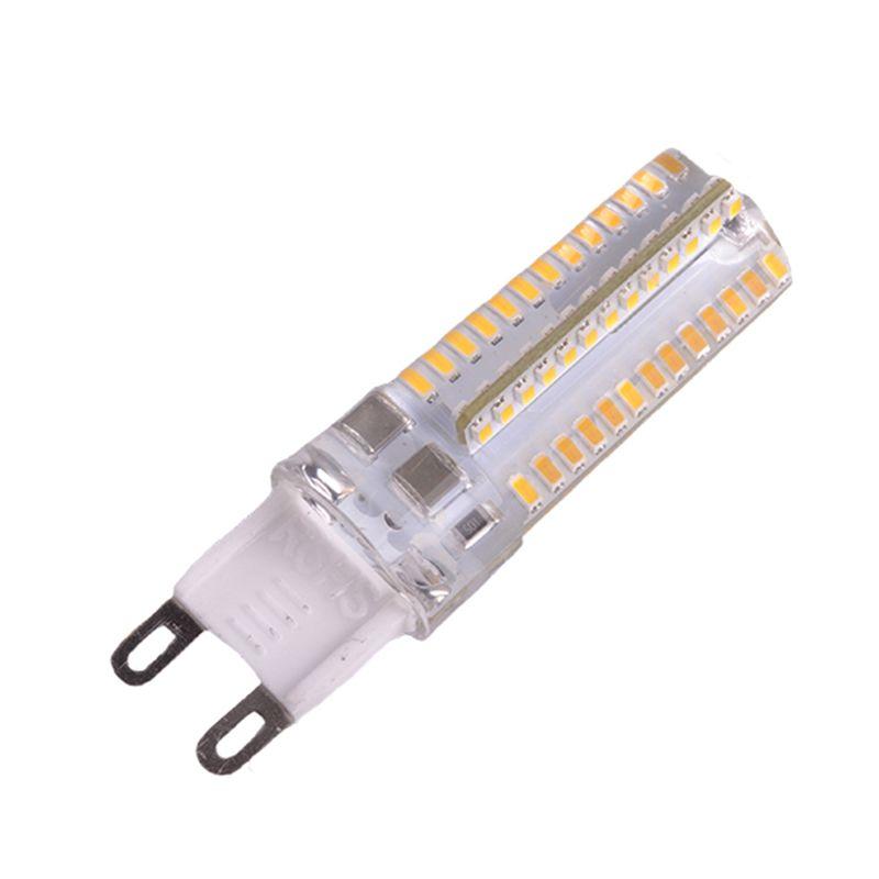 100 UNIDS G9 G4 blanco / cálido 3W 3014 2835 SMD 64LEDs AC110V-130V AC220v-240V LED Lámpara de lámpara de lámpara de lámpara 360 Ángulo de haz DHL