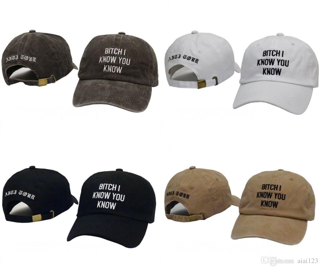 0f3b5725fc4 Baseball Caps Bitch I Know You Know Letter Embroidery Snapback Cap Brand  Men Dad Hat Female Sun Kanye West Bear Hat Bone Masculino Casquette Kids  Hats Ball ...