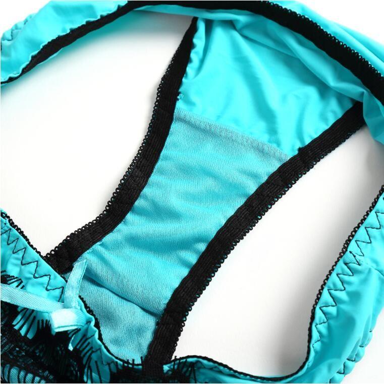 Women's Sexy AB Embroidery Women Bra Set Lace Plus Sizes Bra Brief Sets Push Up Bralette Panty Underwear Set