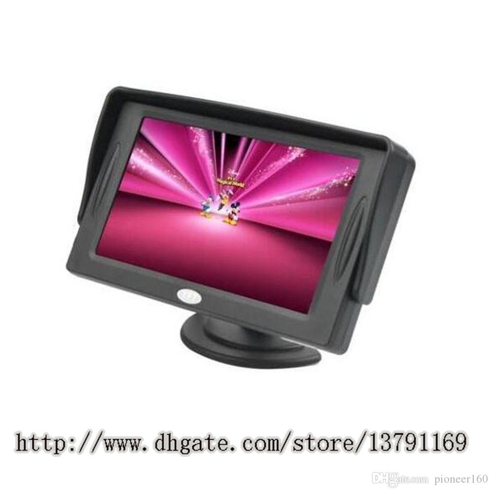 4.3 Inch LCD TFT Rearview Monitor Screen Backup Camera Rearview Backup Monitor Reverse Camera for Car Black