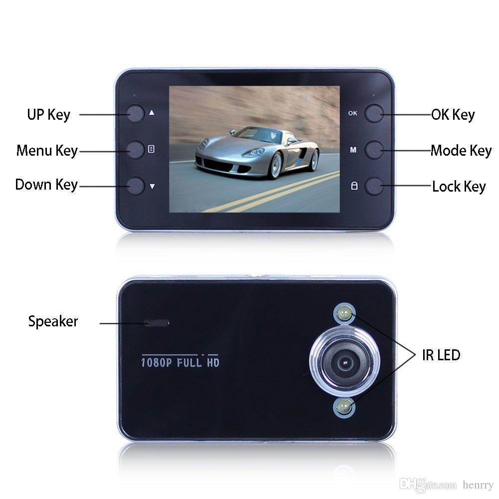 Car DVR 2.4 Inch K6000 Full HD Dash Cam LED Night Recorder Camcoder Z910 Parking Monitoring Motion Detection One Key Lock Cycle