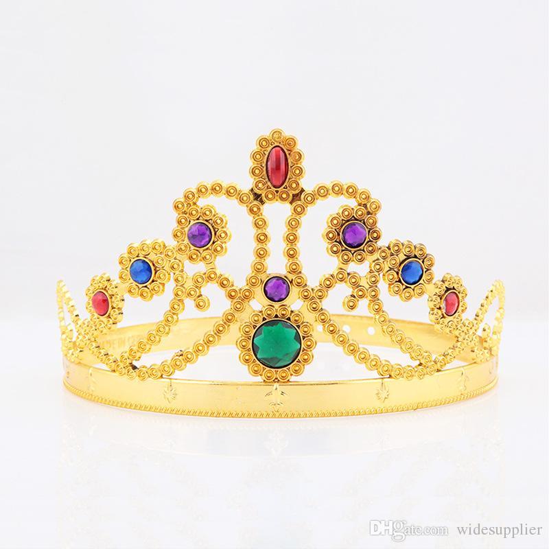 Хэллоуин танцевальная вечеринка для волос ювелирных изделий COS Kings Queens Head Loop Reak Crown Princess Big Head Bands