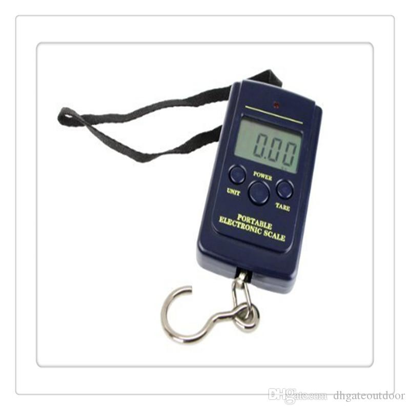 New Fishing Scale 20g 40Kg Digital Hanging Luggage Weight Scale Kitchen Scales Cooking Tools Electronic Models Wholesale Fishing Accessories