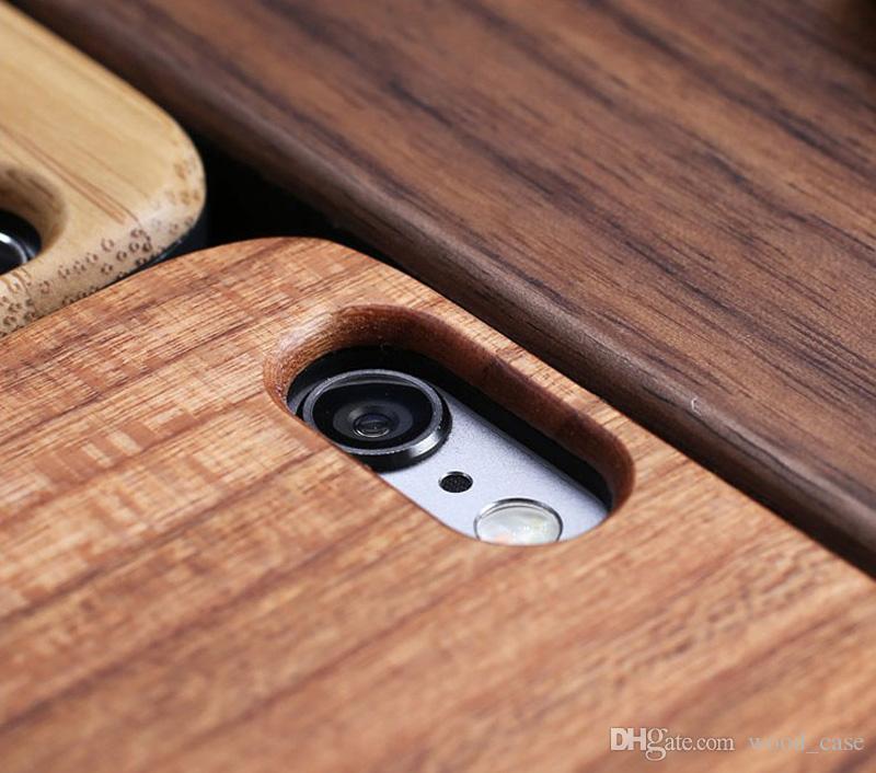 Cas de téléphone en bois de gravure personnalisé pour Iphone X XS Max XR 8 Couverture Nature sculpté des cas de bambou en bois pour Iphone 6 6s 7 plus Samsung S9 S10