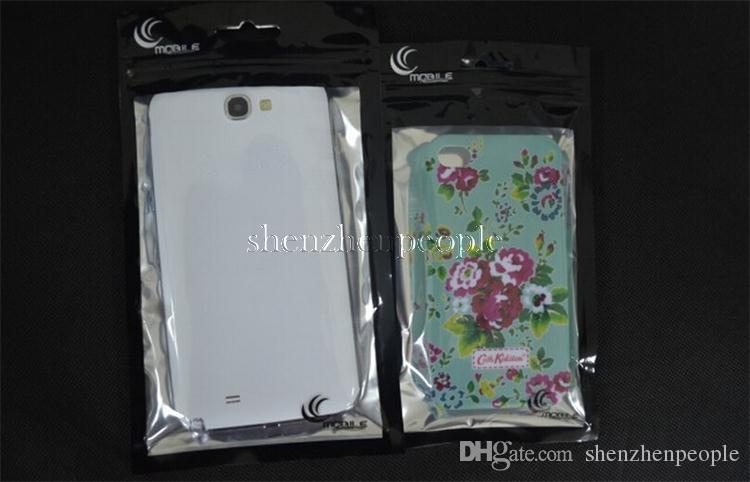22 * 12 paquete de plástico al por menor bolsa de poli para caja del teléfono móvil para el teléfono inteligente para htc sony blackberry huawei LuxuryZipper