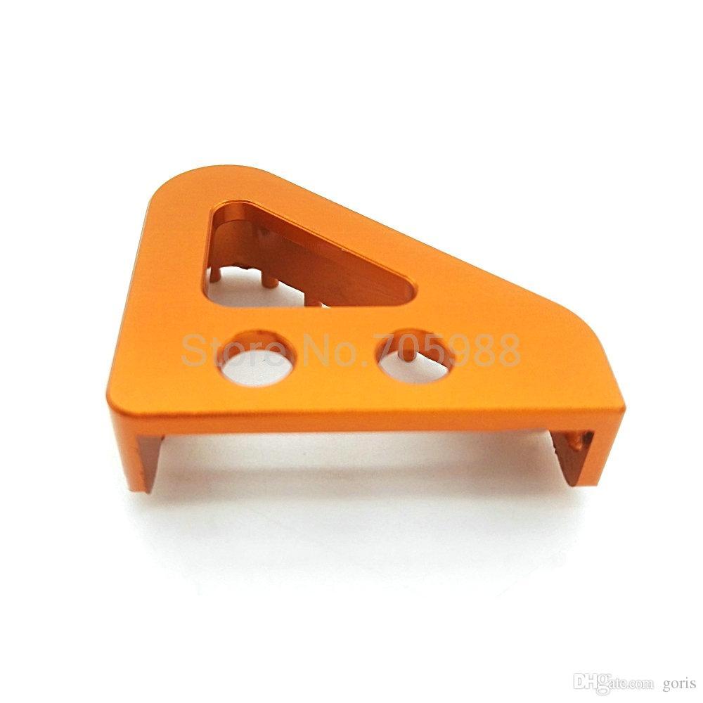 CNC Motorrad Billet Alu Hinterrad Bremspedal Trittspitzen für KTM 65 85 125 150 250 350 450 SX SXF Orange