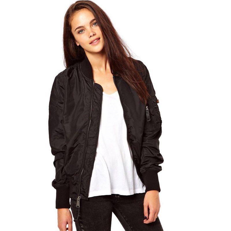 Black bomber jacket womens plus size