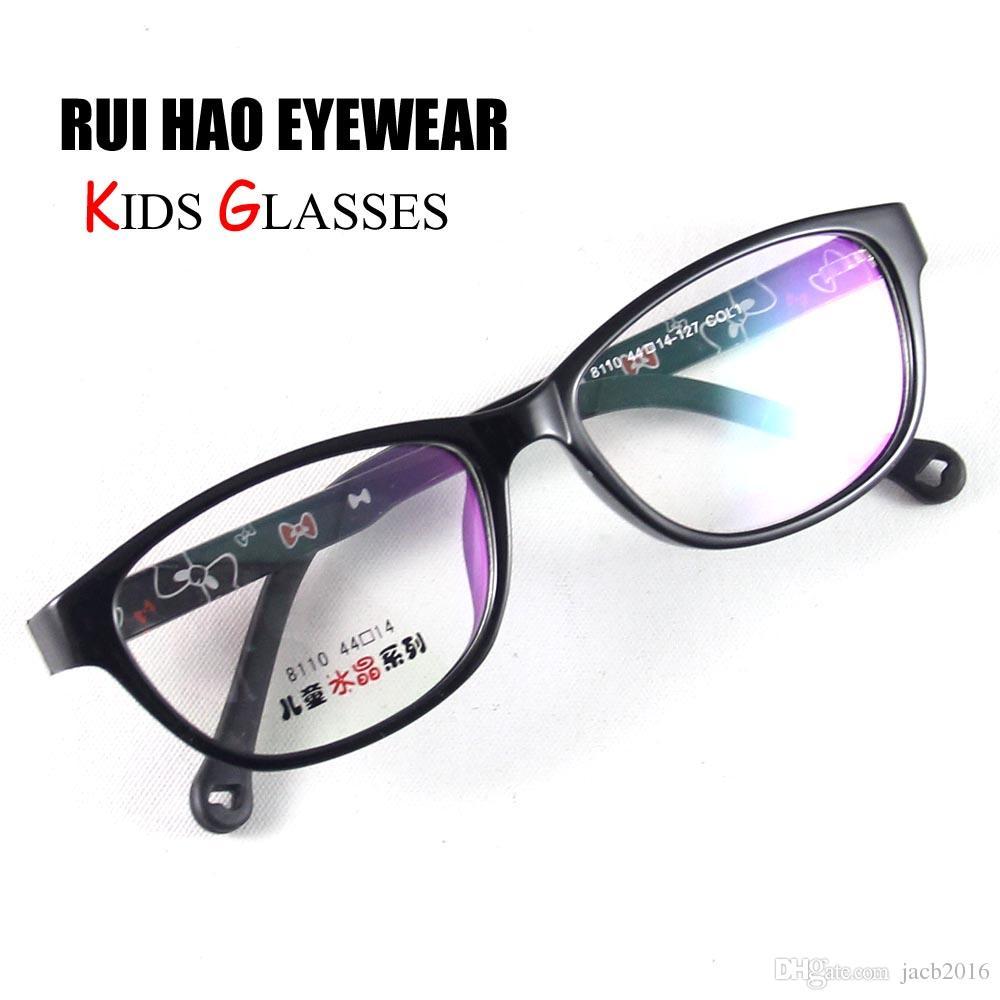 5c5cd7b64c9 2019 Brand New Kids Glasses Eyeglasses Eyewear Children Black Frame TR90  Spectacles Light Boys Girls Young Cute 8110C1 From Jacb2016