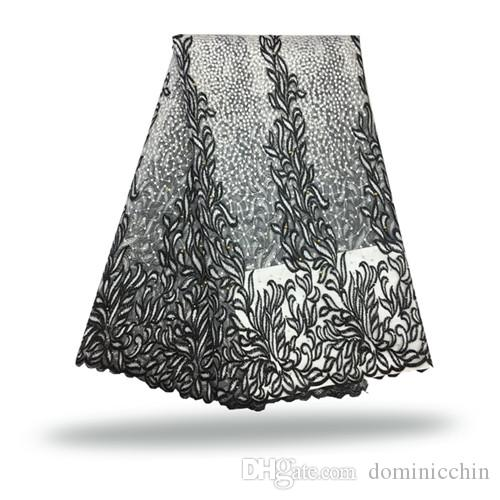 FCT 024 5yardstulle net lace fabric,New coming embroidered mesh lace cloth for wedding dress