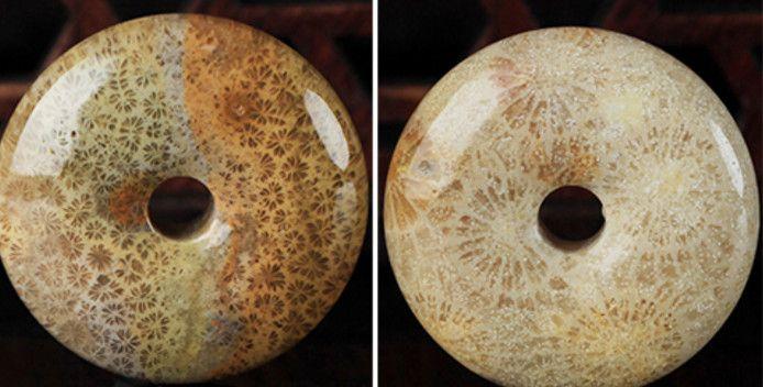 Saf doğal mercan krizantem yeşim el yapımı vintage ping bir dört mevsim barış kolye pendan