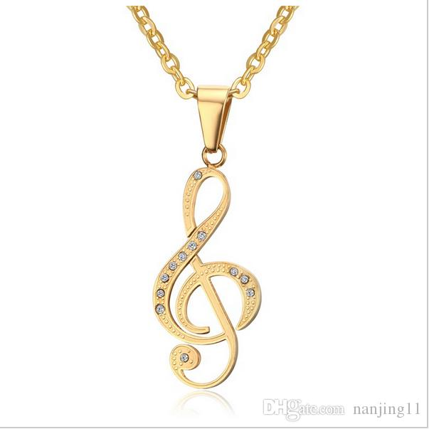 Musical note pendant necklace men jewelry trendy goldblack plated musical note pendant necklace men jewelry trendy goldblack plated cz stone friends necklace free 24inch chain pn 560 pendant necklaces necklaces jewelry aloadofball Choice Image
