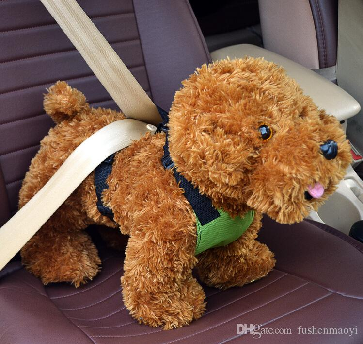 PET Supply Dog Accessoires Harnais de voiture de chien Harnais en tissu maille Voiture avant siège harnais de chien en gros livraison gratuite