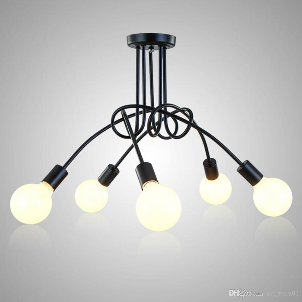 Modern Pendant Light Black Color Ceiling Light Fixture White Color - Kitchen lamps for ceiling