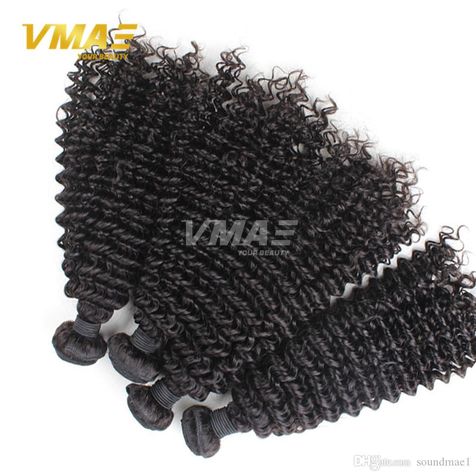 Brazilian kinky Curly Wave Natural Black Hair Wefts Indian Peruvian Malaysian Mongolian Bundles Dyeable extensions Human virgin Hair Weaves